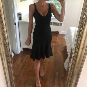 Lulu's Black High Low Deep V Tank Strap Dress